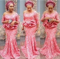 Aso-Ebi is one of those factors that makes the Nigerian weddings lit! You will agree with me that how you present yourself determines how you would be addressed, and of… Aso Ebi Lace Styles, African Lace Styles, Lace Gown Styles, African Lace Dresses, Latest African Fashion Dresses, African Dresses For Women, African Print Fashion, Africa Fashion, African Attire