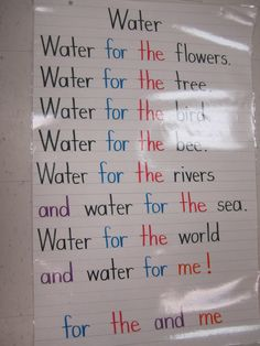 Water unit: I would use this by asking the students who or what uses water. We would create a class poem; combing science and language arts.