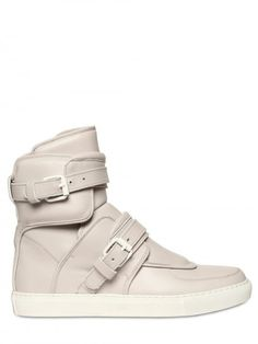 Givenchy Buckled Leather High Top Sneakers http://www.luisaviaroma.com/productid/itemcode/55I-L01004