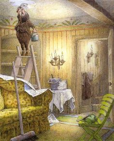 Children's / imaginative Illustrations: Inga Moore - Wind in the Willows