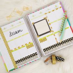 """This week in my @erincondren Life Planner: black and gold theme. #mychicplanner"""