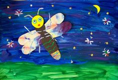 The Art Annex: Lonely Firefly Craft  Idea: Allow kids to use washable paint, markers or crayons instead for less of a staining factor.