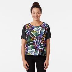 Chiffon Tops, Fitness Models, Abstract Art, Digital Art, Bloom, Printed, Awesome, Sleeves, Mens Tops