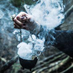 smoke, witch, and grunge kép
