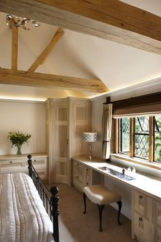 For over 25 years, Figura have been creating handmade luxury interiors for some of Surrey's most beautiful homes. Vaulted Ceiling Bedroom, Bespoke Kitchens, Cottage Interiors, Forest House, Vanity Units, Bathroom Furniture, Luxury Interior, Tulip, Beautiful Homes