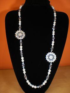 """Collane di perle - Collana """"Fior di Perla"""" - un prodotto unico di 3lektra su DaWanda"""