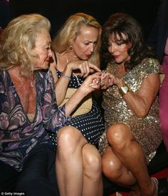 Joan Collins, 80 and Jerry Hall, 57, prove glamour has no age limit as they dress up to the nines for party in St Tropez