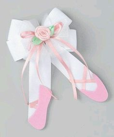 Take a look at this Picture Perfect Hair Bows Pink Ballet Slipper Clip by Dance Class: Apparel & Accents on today! Hair Ribbons, Diy Hair Bows, Bow Hair Clips, Ribbon Art, Ribbon Crafts, Ribbon Bows, Grosgrain Ribbon, Ballet Crafts, Ribbon Sculpture
