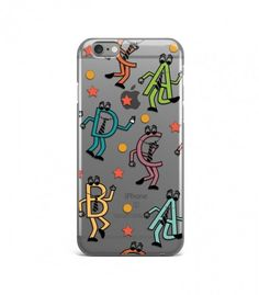 Funny Human Wear Tie Alphabet Pattern Clear or Transparent Iphone Case for Iphone 3G/4/4g/4s/5/5s/6/6s/6s Plus - ALPBH0008 - FavCases