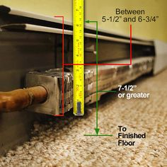 DIY Baseboard Heater Covers