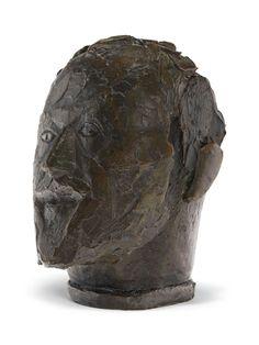 Alberto Giacometti (1901-1966) Tête du père, Ronde II Price realised USD 372,500 Estimate USD 300,000 - USD 500,000 Alberto Giacometti, Global Art, Art Market, Auction, Clay, Artist, Sculptures, Design, Portraits