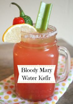 Stick a few spears of fermented celery in this drink to give it prebiotics! South Korean Food, Korean Street Food, Kefir Recipes, New Recipes, Vietnamese Recipes, Vietnamese Food, Good Food, Yummy Food, Healthy Food