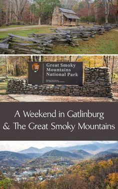 Learn how to plan a weekend getaway to Great Smoky Mountains National Park and Gatlinburg, Tennessee. Highlights include Clingmans Dome, Newfound Gap, Cades Cove, and moonshine tasting in Gatlinburg. Gatlinburg Vacation, Tennessee Vacation, Gatlinburg Tn, Tennessee Attractions, Gatlinburg Tennessee Restaurants, Weekender, Ramsey Cascades, Smoky Mountains Tennessee, Great Smoky Mountains Camping