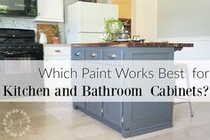 Should you use a specific brand of paint for your cabinets? Do you have to buy hardware store paint? What about chalk paint or a boutique paint line? This post is full of information about the pros and cons of hardware store paint and a boutique brand pa Best Paint For Kitchen, Kitchen Cabinets In Bathroom, Kitchen Design, Kitchen Paint, Kitchen Renovation, Best Cabinet Paint, Kitchen Cabinet Trends, Painting Kitchen Cabinets, Kitchen And Bath