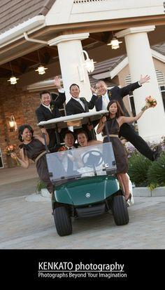 fun golf course wedding photos - Google Search