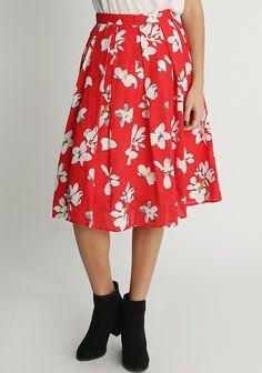 Eastondale Floral Midi Skirt