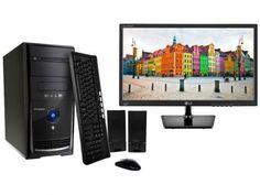 """Computador PC Mix L3300 Intel Dual Core - 4GB 1TB Linux + Monitor LG LED 19,5"""" Widescreen com as melhores condições você encontra no Magazine Brasilcompleto. Confira!"""