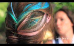 Rainbow hair -- for summer!
