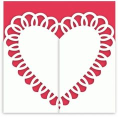 Silhouette Design Store: heart doily gate fold card
