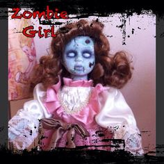 Zombie girl Porcelain doll by Foojoodolls on Etsy, £18.00