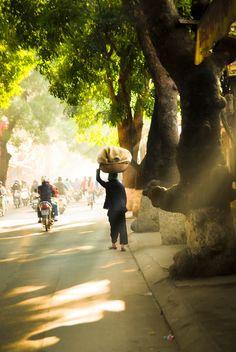 Morning sunlight in Hanoi, Vietnam