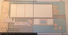 November's layout class - uses Frosted paper packet (x7175b) and Frosted My Stickease (x7175c) www.shirleyross.ctmh.com #ctmh