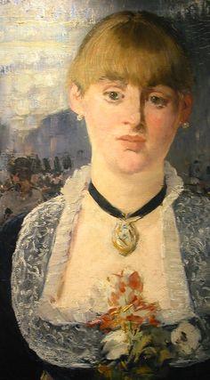 "Edouard Manet - Personaje central de ""Un bar en el Folies Bergère"""