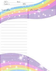 free printable stationery, free christmas stationery for sponsored kids