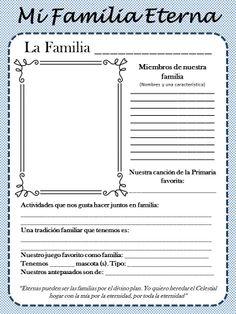 """Fichas: """"Mi Familia Eterna""""  Para trabajar el tema de este año en la Primaria (lds)"""