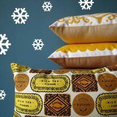 Nikki McWilliams - Mellow Yellow Biscuit Cushions