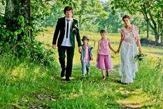 So cute! -Wedding dress- the Elizabeth style Eco-wedding dress-custom made. $345.00, via Etsy.
