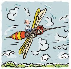 flying, by LK