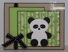 Punch Art Panda by thecraftysister - Cards and Paper Crafts at Splitcoaststampers