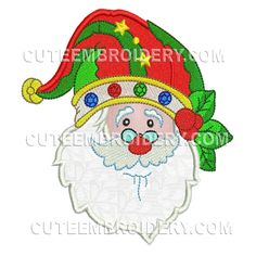 """This free embroidery design is called """"Santa Claus""""."""