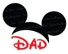 Disney Iron On Transfer, DAD Mickey Ears, instant digital download, Printable, Family Vacation, Disney World, Birthday Party, Matching Shirt