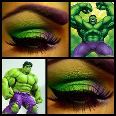 Incredible Hulk eye makeup