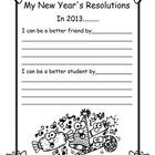 New Year's Resolution WritingHelp your students come up with some ways to better themselves this New Year!Includes:Writing Page:
