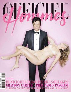 Benicio Del Toro for L'Officiel Hommes Paris Winter 2012 My Magazine, Print Magazine, Chelsea Schuchman, Benecio Del Toro, Aaron Young, Fashion Magazine Cover, Magazine Covers, Pier Paolo Pasolini, Paris Winter