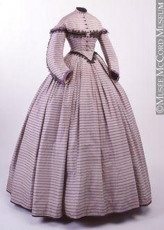 dress ca. 1862-1864 via Musee McCord Museum