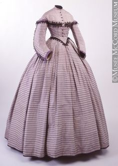 dress ca. 1862-1864 via Musee McCord Museum