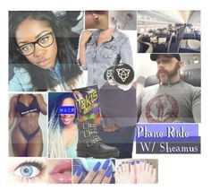 """☠EMANI☠ Plane Ride W/ Sheamus"" by black-onyxx ❤ liked on Polyvore"