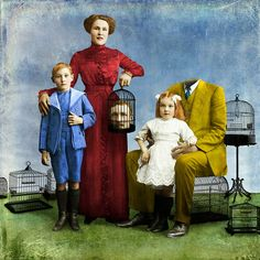 here on earth,by beth conklin Collages, Collage Art, Magritte, Magazine Collage, Bird Cages, Audrey Kawasaki, Surreal Art, Andrew Wyeth, Alex Colville