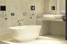 The full #Amiata Collection consisting of the #Amiata freestanding bath and #Amiata 60 counter-top basin. Both designed by Meneghello Paolelli Associati for Victoria + Albert Baths.