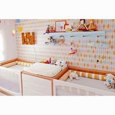 40 Ideas For Baby Nursery Twins Children Baby Bedroom, Baby Boy Rooms, Kids Bedroom, Nursery Twins, Nursery Room, Grey Crib, Baby Decor, Twin Babies, Kids Furniture