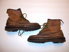 Dr Martens Womens size 8 Brown Leather Boots UK 6 by VintyThreads, $45.00