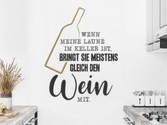 Lustige Wandtattoo Sprüche | witzig & humorvoll | Wandtattoos.de Html, Home Decor, Pictures, Cry Quotes, Good Mood, Picture Frames, Cleaning, Decoration Home, Room Decor