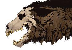 """Ripped c impalae "" Creature Drawings, Animal Drawings, Cute Drawings, Dark Creatures, Mythical Creatures Art, Monster Art, Fantasy Beasts, Creepy Art, Creature Concept"