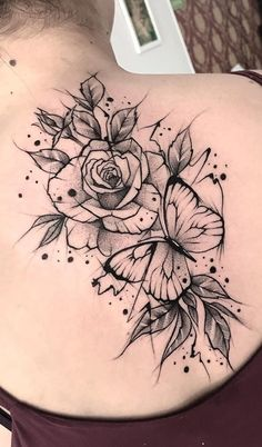 The 90 Best Back Tattoos [Femininas e Masculinas] Mini Tattoos, Body Art Tattoos, Small Tattoos, Sleeve Tattoos, Tatoos, Small Tattoo Designs, Flower Tattoo Designs, Flower Tattoos, Tattoo Femeninos