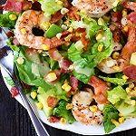 gamba en avocado salade