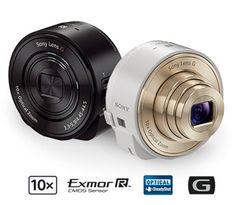 Sony Cyber-shot QX10 y QX100, lentes para smartphones que permiten tomar fotos de alta calidad y vídeos HD y compartirlos de inmediato a través del teléfono.